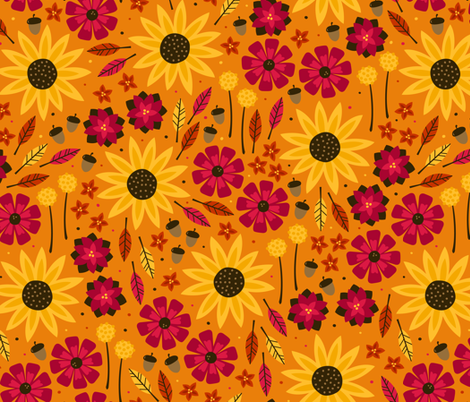 Fall is in the Air fabric by robyriker on Spoonflower - custom fabric