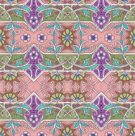 When Nouveau Sprouts fabric by edsel2084 on Spoonflower - custom fabric
