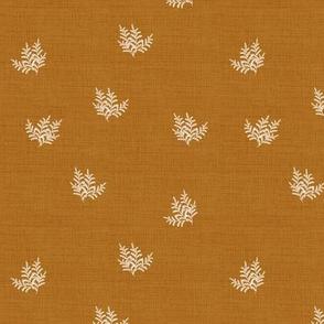 Forest Fern, Rust Orange Linen, Smaller