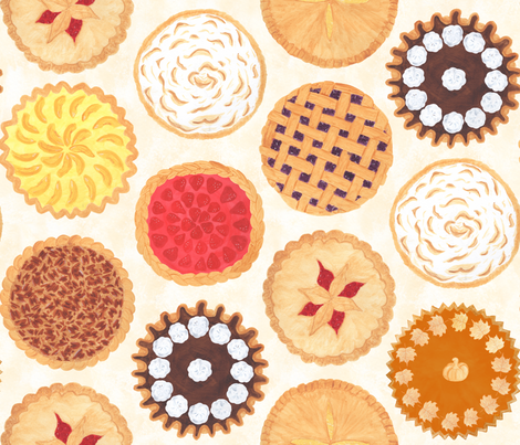 Pies, Pies, Pies fabric by beala_designs on Spoonflower - custom fabric