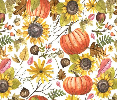 Fall Into Love fabric by hudsondesigncompany on Spoonflower - custom fabric