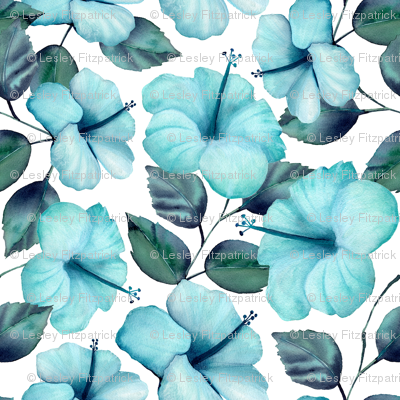 Teal Hibiscus