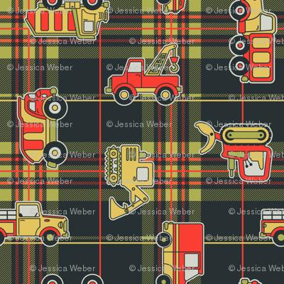 Trucks on Flannel