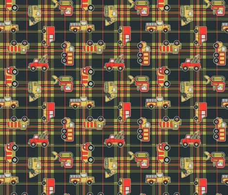 Trucks on Flannel fabric by franticfabrics on Spoonflower - custom fabric