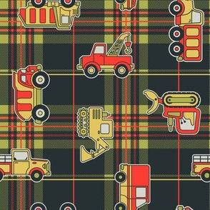 Trucks on Flannel