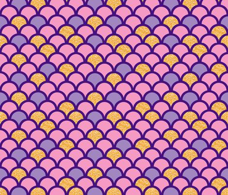 Mermaid Scales fabric by franticfabrics on Spoonflower - custom fabric