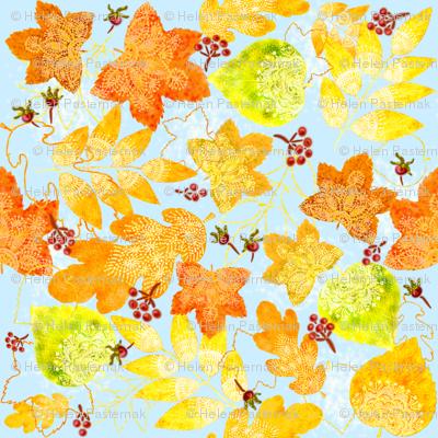 Rustic Fall Doil-leaves
