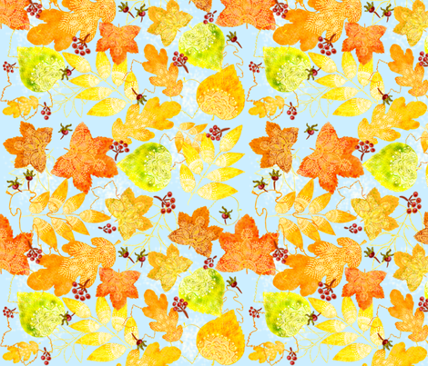 Rustic Fall Doil-leaves fabric by helenpdesigns on Spoonflower - custom fabric