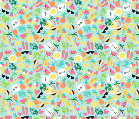 Tropical_novelty_E-01 fabric by laura_may_designs on Spoonflower - custom fabric