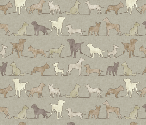 Dogs in Tan fabric by pattern_pod on Spoonflower - custom fabric