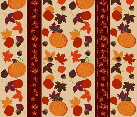 festive fall fabric by ecs-designs on Spoonflower - custom fabric