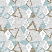 Woodblock Triangles in Gray