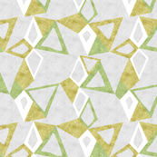 Woodblock Triangles in Green