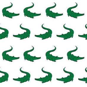 gator fabric animal nature design white