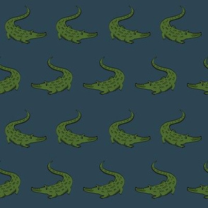 gator fabric animal nature design blue