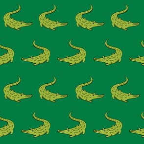 gator fabric animal nature design light_green