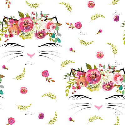 "3"" Kitty Floral White"