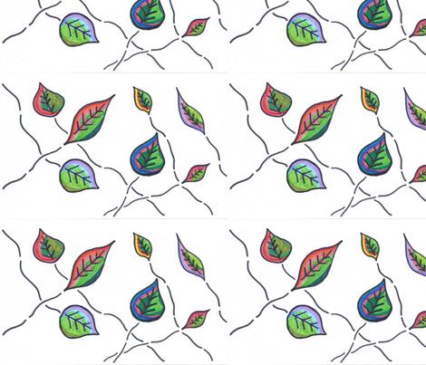 Rustic Fall Leaves fabric by kate's_kwilt_studio on Spoonflower - custom fabric