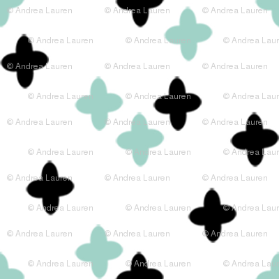 plus sign fabric // mint and black plus sign cross pastel