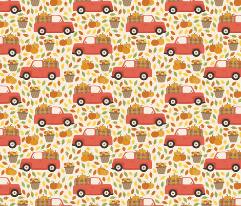 Harvest Truck fabric by taylorshannon on Spoonflower - custom fabric