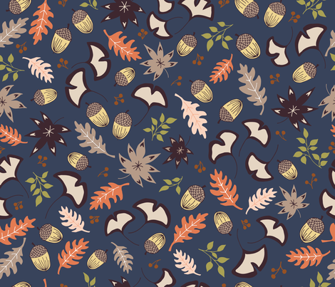 fall forest fabric by ldpapers on Spoonflower - custom fabric