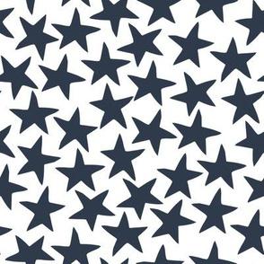 stars fabric // navy blue circus fabric design nursery baby