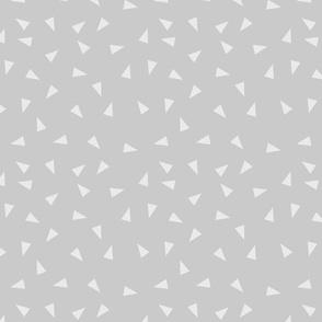 grey triangles fabric - grey