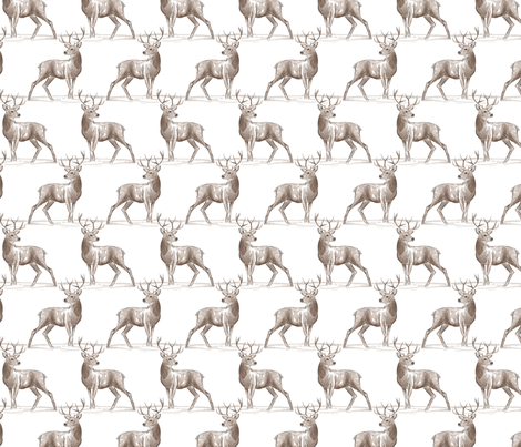 frosty forest - stag fabric by katybobsyouraunty on Spoonflower - custom fabric