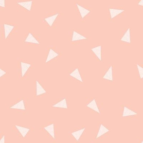 peach triangles fabric
