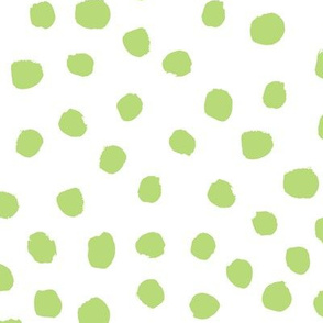 lime  dots fabric