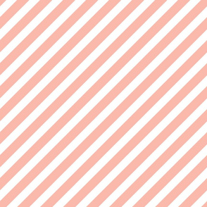 peach diagonal stripes fabric