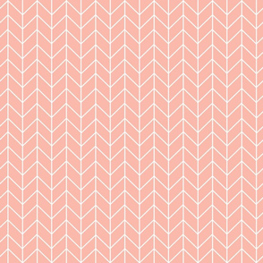 peach chevrons fabric