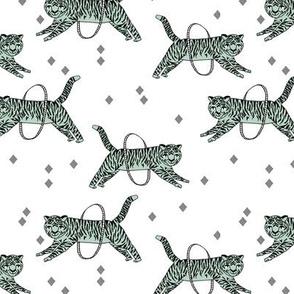 Tigers fabric // circus fabric white