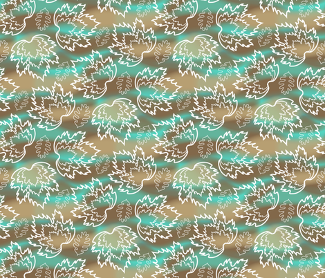 Feuilles (5) fabric by jjtrends on Spoonflower - custom fabric