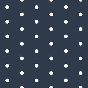 polka dots fabric // navy mini dots design navy circus fabric