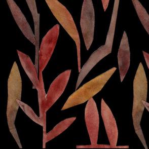 Bronze golden leaves