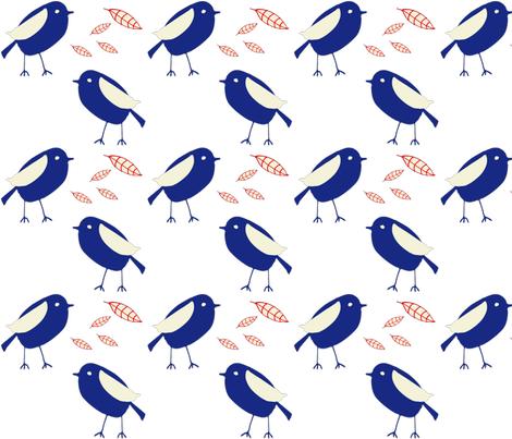 Blue bird fabric by bruxamagica on Spoonflower - custom fabric