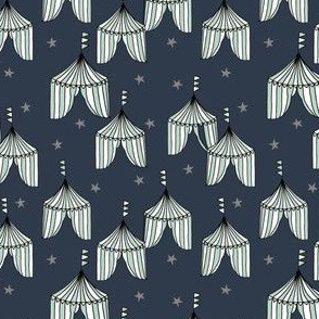 circus tent fabric //  big top carnival fabric navy