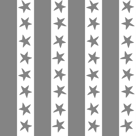 stars and stripes fabric // grey nursery circus design star and stripes design fabric by andrea_lauren on Spoonflower - custom fabric