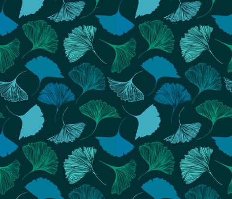 Magic ginkgo fabric by silmen on Spoonflower - custom fabric