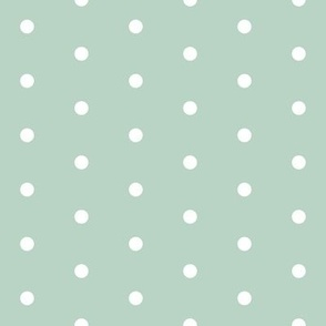 dots // mint green and white dot fabric nursery baby coordinate
