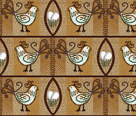 Show Some Chicken Luv fabric by franbail on Spoonflower - custom fabric