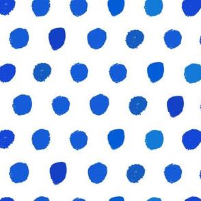 Blue watercolor geometric