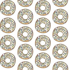 White Sprinkle Donut