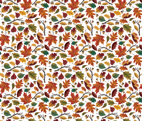 Fall Leaf Pattern fabric by ldotillustration on Spoonflower - custom fabric