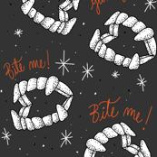 Halloween Vampire Teeth Bite Me Cute Vampire Plastic Teeth Dentures Orange Black and White