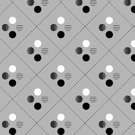 four directions in gray fabric by crystalgates on Spoonflower - custom fabric