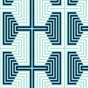 Hexagon Strips in Mint