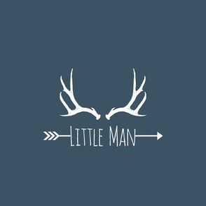Little Man Antlers (8x8 quilt square) - on slate