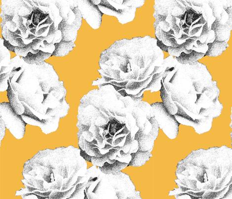 Yellow Floral fabric by blissdesignstudio on Spoonflower - custom fabric